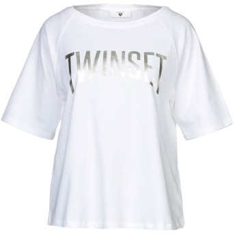 《セール開催中》TWINSET UNDERWEAR レディース T シャツ ホワイト XS コットン 95% / ポリウレタン 5%