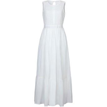 《セール開催中》SADEY WITH LOVE レディース ロングワンピース&ドレス ホワイト 40 コットン 100%
