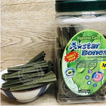 【培菓寵物48H出貨】A-Star Bones 阿曼特空心六星棒潔牙骨(幫助消化)M號單支(蝦)