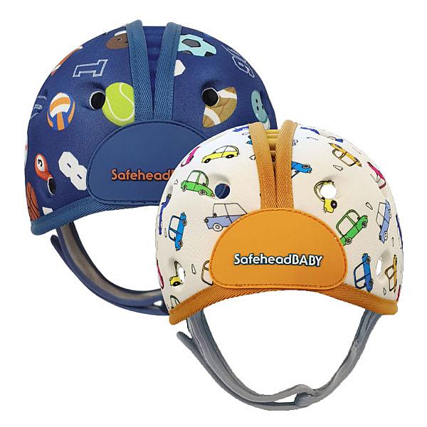 英國 SafeheadBABY 幼兒學步防撞安全帽/防撞帽/護頭帽(運動明星 噗噗汽車)