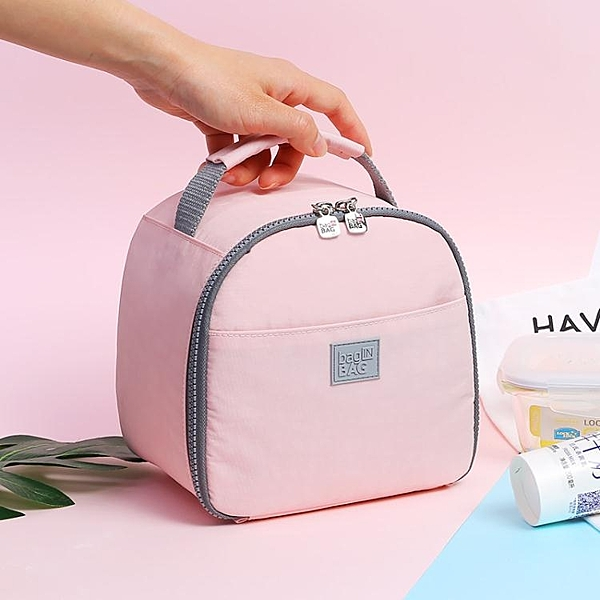 飯盒袋子保溫便當手提包帶小號包裝鋁箔上班族團加厚女的可愛日式 印巷家居