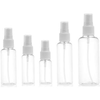 スプレーボトル アルコール 詰め替え 携帯用 霧吹き PET スプレー容器 アルコール対応 透明小分けボトル 消毒液ボトル 100ml 8 本セット