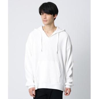 tk. TAKEO KIKUCHI/ティーケー タケオキクチ ワッフルスキッパーフーディ オフホワイト(003) 88(FREE)