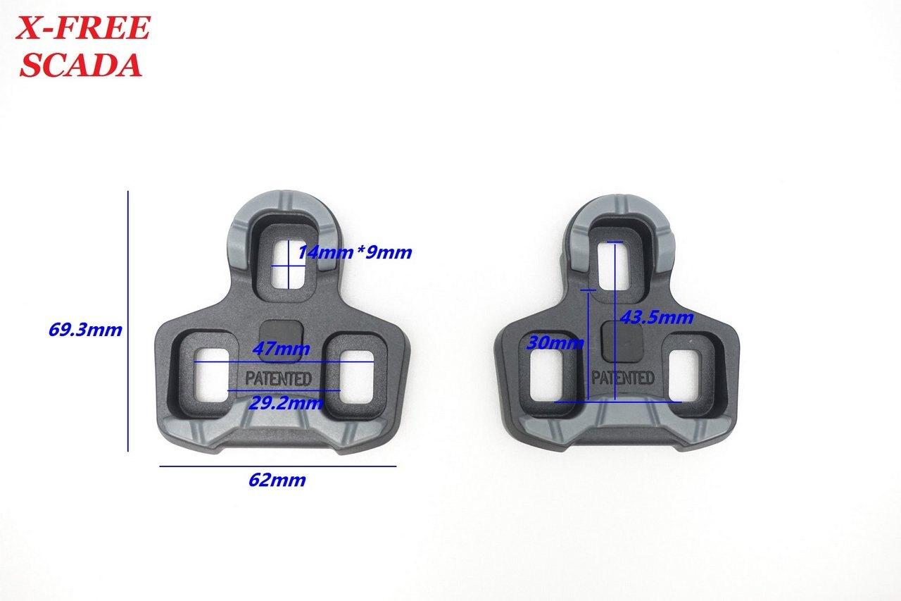 《意生》SCADA鞋底板SHIMANO LOOK-KEO系統扣片 黑色0度 公路車卡踏扣片 跑車卡式踏板 腳踏板