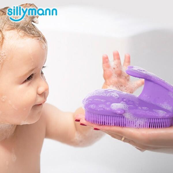 韓國sillymann 100%鉑金矽膠鯨魚洗澡刷