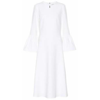 ティビ Tibi レディース ワンピース ミドル丈 ワンピース・ドレス Crepe midi dress White