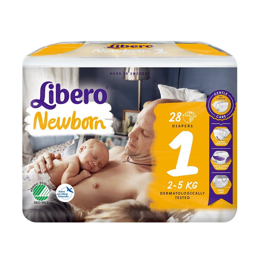 麗貝樂 嬰兒紙尿褲1號NB (28片x4包)【甜蜜家族】