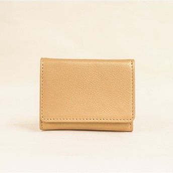 新作 大人可愛い 三つ折りコンパクト財布 手に馴染むサイズ感 10箇所収納 本革 ギフト ゴールド TOW001