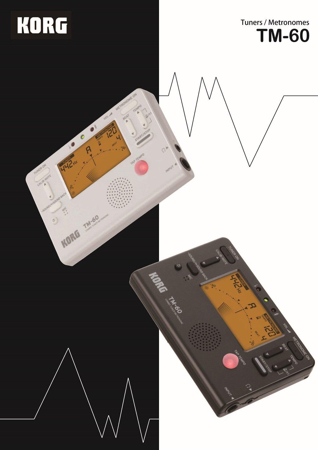 【非凡樂器】KORG【TM-60】調音節拍器/功能齊全/白/公司貨保固