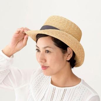 Olga オルガ 麦わら シルクハット型 カンカン帽 グレー 57.5cm [UK-H076-GY]