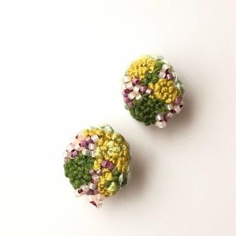 刺繍イヤリング 桜始めて開く 日本の四季シリーズ 七十二候より