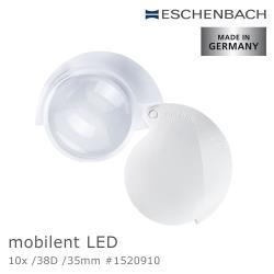 Eschenbach 宜視寶 mobilent LED 10x 38D 35mm 德國製LED攜帶型非球面高倍單眼放大鏡 1520910