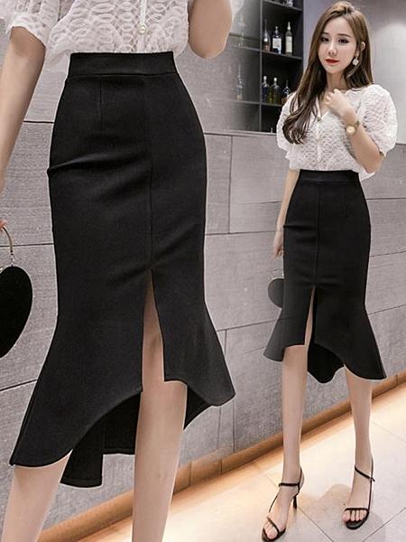 中式花瓣魚尾半身裙不規則流行女裝新款 琪朵市集