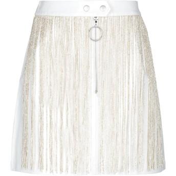 《セール開催中》GLAMOROUS レディース ミニスカート ホワイト 10 ポリエステル 50% / ポリウレタン 50%