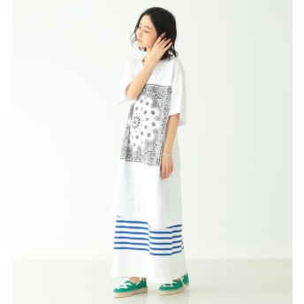 【ビームス ウィメン/BEAMS WOMEN】 CHED / バンダナ パッチ Tシャツワンピース