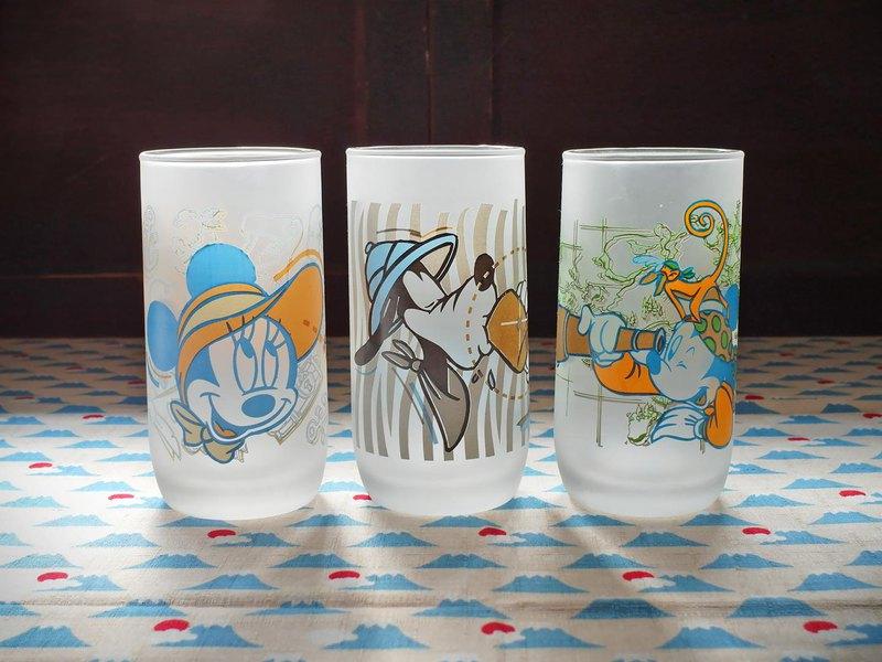 早期印花水杯-迪士尼尋寶 (一套三杯)