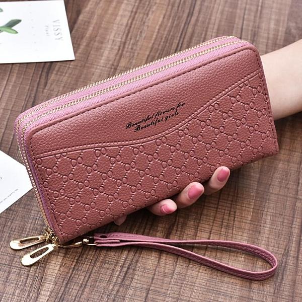 新款大容量雙拉鏈手拿包手挽包多功能媽媽錢包 琪朵市集