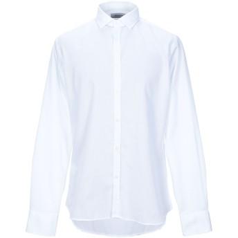 《セール開催中》AGLINI メンズ シャツ ホワイト 42 コットン 100%