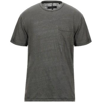 《セール開催中》RAG & BONE メンズ T シャツ ミリタリーグリーン S リネン 100%