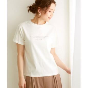 ロペピクニック オーガニックコットンロゴTシャツ レディース オフホワイト(15) 40 【ROPE' PICNIC】
