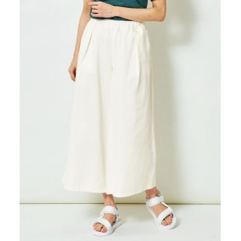綿100%ライトオンスデニム9分丈スカーチョ (大きいサイズレディース)パンツ, plus size pants