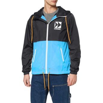 (ディーゼル) DIESEL メンズ ジャケット バイカラー ナイロン プリントパーカー 00SA1Z0WAVL M ブラック 900