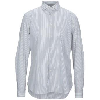 《セール開催中》TREND CORNELIANI メンズ シャツ 鉛色 43 コットン 65% / ポリイミド 30% / ポリウレタン 5%