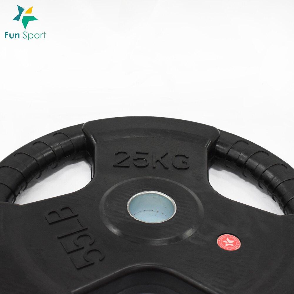 三孔手抓包膠槓片(25kgx2)Fun Sport