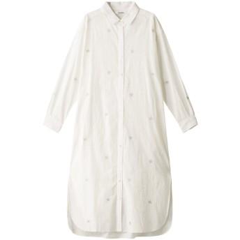 MARILYN MOON マリリンムーン 【wa. lance★★】星刺しゅうシャツワンピース オフホワイト
