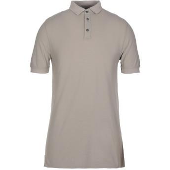 《セール開催中》ALPHA STUDIO メンズ ポロシャツ ドーブグレー 46 コットン 100%