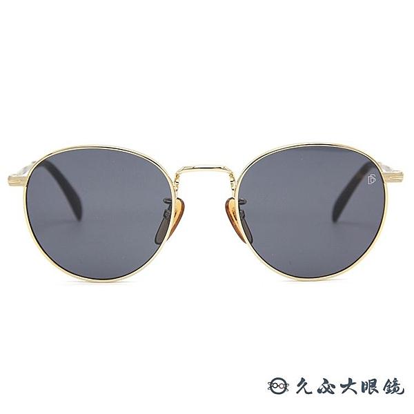 DB EYEWEAR 貝克漢設計品牌 DB 1005S (金) 圓框 太陽眼鏡 久必大眼鏡
