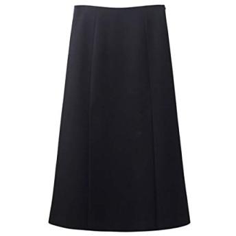 AHWYE 女性のレトロなハイウエストAラインのスプリットスカートの長いセクションの2019年冬の韓国語バージョン AHWYE (Color : Black, Size : S)