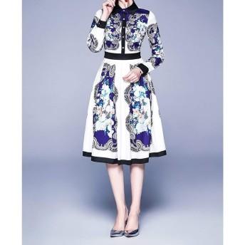 服装やアクセサリー ドレス CZ洗練されたレトロドレス(:として表示サイズ:S着色を)スイングビッグを印刷します (色 : As Show, サイズ : One Size)