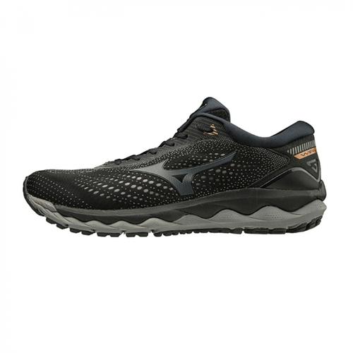 MIZUNO 美津濃 WAVE SKY 3 SW 慢跑鞋 運動鞋 黑色 男鞋 J1GC191161