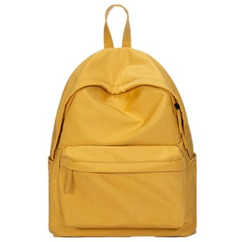 ビジネスバッグマカロン通学女性キャンパスピンクシンプルワイルドリュック韓国語大学の学生のバックパック大容量 (Color : Yellow, Size : A)