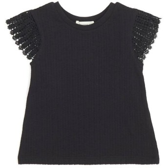 (Seraph/セラフ)フレンチスリーブTシャツ/ ブラック