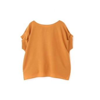 【公式/NATURAL BEAUTY BASIC】[2way]タックスリーブブラウス/女性/ブラウス/オレンジ/サイズ:S/ポリエステル 100%