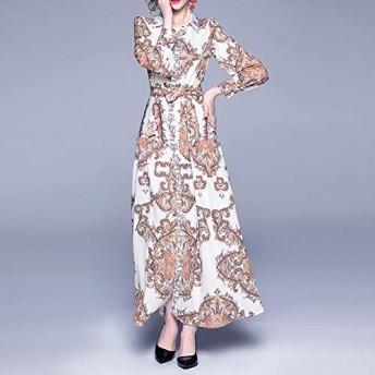 服装やアクセサリー ドレス CZプリントシャツスカートウエストトリム (色 : As Show, サイズ : 2XL)