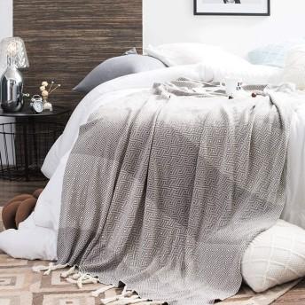 ソファブランケット ニットフリンジソフトスローブランケットソファソファの装飾ブランケット多機能レジャーブランケット起毛ブランケットトラベルブランケット 毛布 (Color : Gray, Size : 130cmx180cm)
