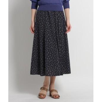 SunaUna(スーナウーナ) 【洗える】プチプリントフレアスカート