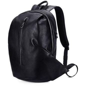 男包 丈夫な防水人間工学ハイキングバックパック大容量トラベルカジュアルバッグトラベル (Color : Black, Size : S)