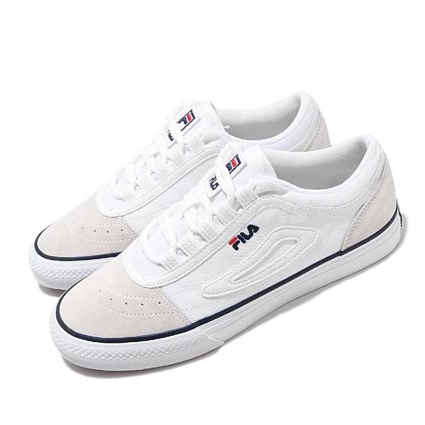 Fila 休閒鞋 Classic border OG 白 深藍 男鞋 女鞋 帆布鞋 運動鞋 【ACS】 4C331U113
