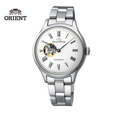 ORIENT STAR 東方之星 CLASSIC 系列 經典鏤空機械錶 鋼帶款 銀色 -30.5mm