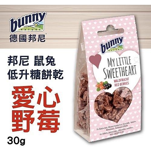 *KING*德國bunny 邦尼鼠兔低升糖餅乾 愛心野莓 30g/包 無糖、無色素、無防腐劑
