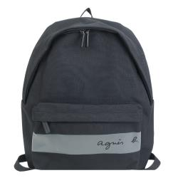 agnes b. CORDURA橫紋帆布後背包-黑