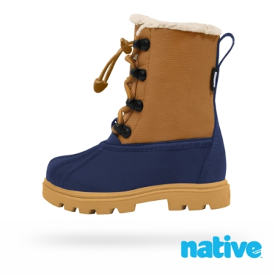native 小童鞋 JIMMY 3.0 小獵鴨靴-大地棕x藍