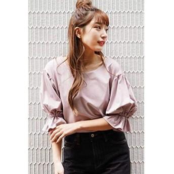 [フリーズマート] Tシャツ 前後2WAYシルケットキャンディースリーブカットソー レディース ピンク 日本 FR (FREE サイズ)