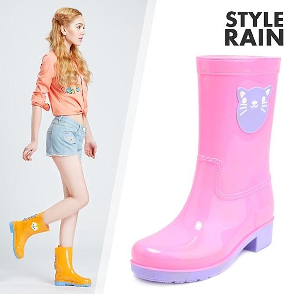 時代林雨鞋女時尚款外穿防水防滑中筒水鞋冬水靴加絨女式雨靴膠鞋 印巷家居
