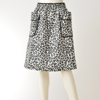 Pixie Heart レオパード柄オーバースカート