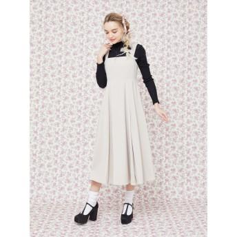 【6,000円(税込)以上のお買物で全国送料無料。】プリーツ切替ジャンパースカート